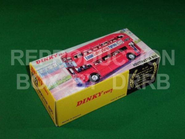 Dinky #289 Routemaster Bus - Reproduction Box ( Red - Esso Tyres - With Street Screen  )